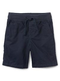 "4.5"" Pull-On Twill Shorts"