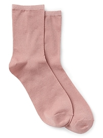 Half Crew Socks in Metallic Knit