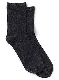 Demi-chaussettes en tricot métallique