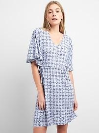 Softspun Flutter Sleeve Mini Dress