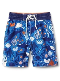 "4"" Sea Creature Swim Trunks"
