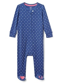 Cuddle & Play Dot Heart Footed One-Piece