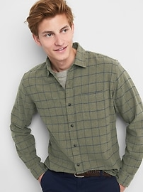 Flannel standard fit shirt