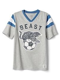 T-shirt à rayures rugby avec col enV