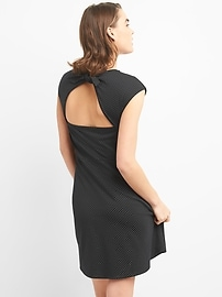 Bunny-Tie Fit and Flare Dress in Ponte