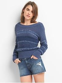 Mix-Stitch Pullover Sweater