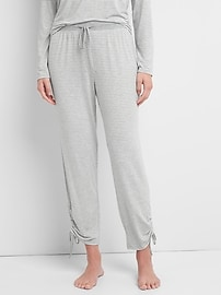 Gathered Ankle Joggers