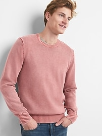 Pullover Crewneck Sweater in Combed Cotton