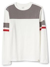 T-shirt à manches longues à rayures de rugby