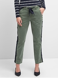Girlfriend Chinos with Side Lace Detailing
