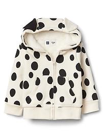 Haut à capuchon et à glissière babyGap en sherpa à motifs des Dalmatiens de Disney