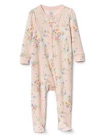 Cuddle & Play Print Footed One-Piece