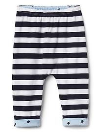 Pantalon rayé doublé à enfiler