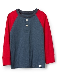 Colorblock Henley T-Shirt