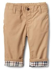 Pantalon à enfiler en popeline doublée