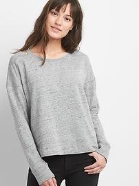 Cutout pullover sweatshirt