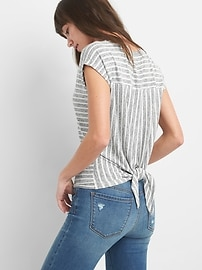 Stripe Softspun Tie-Back T-Shirt