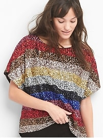 Crazy stripe sequin top