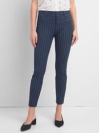 Stripe Skinny Ankle Pants