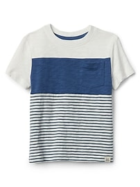 Chest-Stripe Crewneck T-Shirt