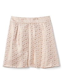 Metallic Star Skirt in Jacquard