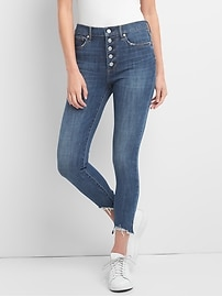 Super High Rise True Skinny Ankle Jeans in 360 Stretch