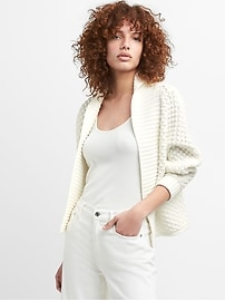 Open-Front Shawl Collar Cardigan Sweater
