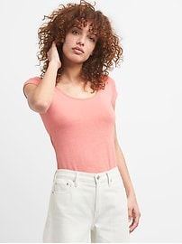 Softspun Short Sleeve Ballet-Back T-Shirt