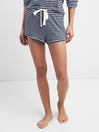 Stripe Knit Dolphin Shorts