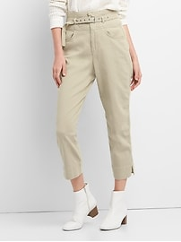 High Rise Chinos with Belt