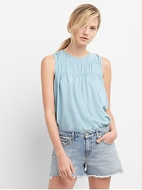Shirred Tank Top in TENCEL&#153