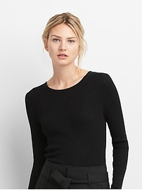 Slim Ribbed Crewneck Sweater
