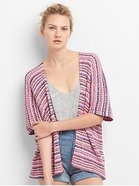 Stripe Open-Front Cardigan Sweater