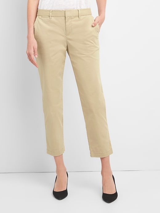 Gap Women/'s Black Slim City Crop Chinos Size 6 Petite