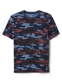 Camo Pocket Crewneck T-Shirt