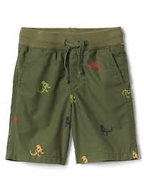 """4.5"""" Pull-On Graphic Shorts"""
