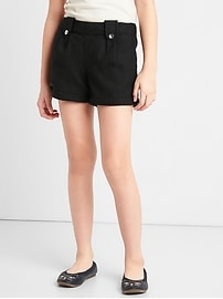 Button sparkle shorts