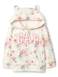 Floral Logo Bear Sweater
