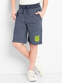 "9"" Pull-On Logo Shorts"