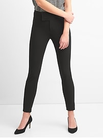 Zip Leggings with Wide Waistband in Bi-Stretch