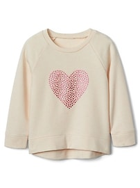 Star Heart Pullover Sweatshirt