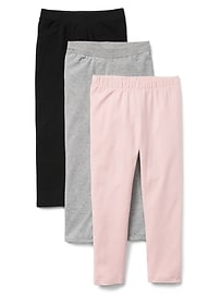 Leggings en jersey extensible (paquet de3)