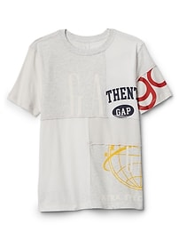 T-shirt à logo avec appliques