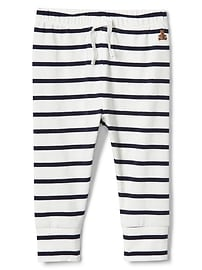 Stripe Leggings in Stretch Jersey