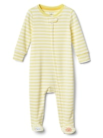 Cuddle & Play Stripe Graphic Footed One-Piece