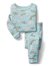Pyjama à motifs d'arc-en-ciel