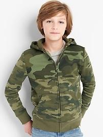 Camo Hoodie Sweatshirt