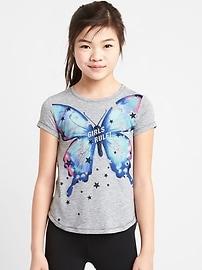 T-shirt à imprimé à dos fendu GapFit pour enfant
