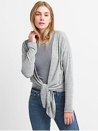 Softspun Tie-Front Cardigan Sweater