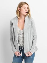 Open-Front Hooded Cardigan Sweatshirt